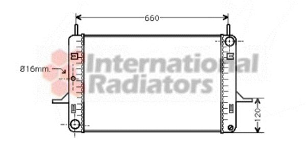 Radiateur, refroidissement du moteur - VAN WEZEL - 18002060