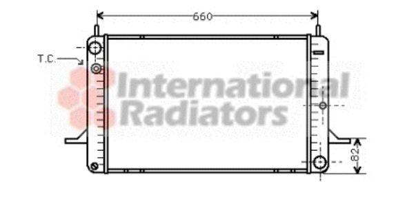 Radiateur, refroidissement du moteur - VAN WEZEL - 18002070