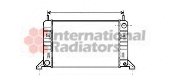 Radiateur, refroidissement du moteur - VAN WEZEL - 18002077