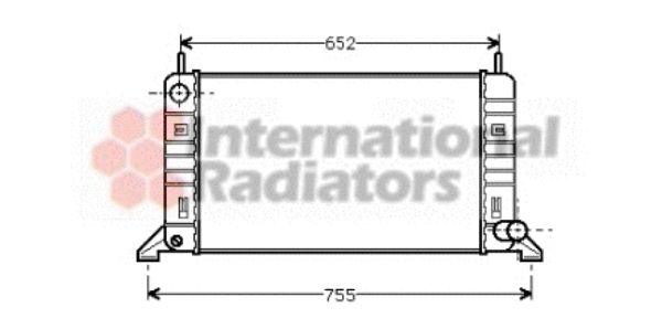 Radiateur, refroidissement du moteur - VAN WEZEL - 18002078