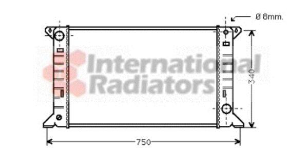 Radiateur, refroidissement du moteur - VAN WEZEL - 18002085