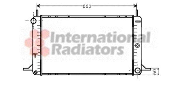 Radiateur, refroidissement du moteur - VAN WEZEL - 18002088