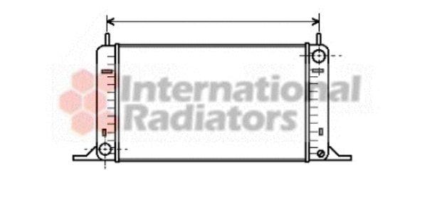 Radiateur, refroidissement du moteur - VAN WEZEL - 18002096