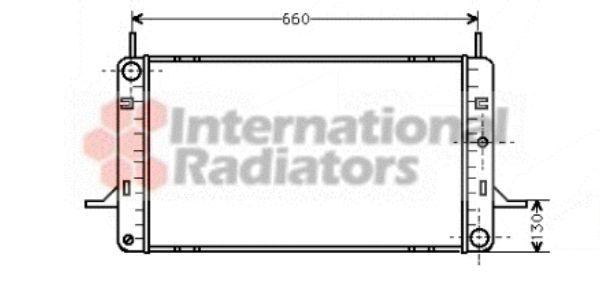 Radiateur, refroidissement du moteur - VAN WEZEL - 18002102