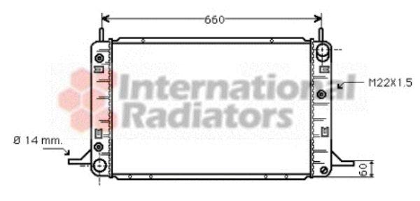 Radiateur, refroidissement du moteur - VAN WEZEL - 18002113