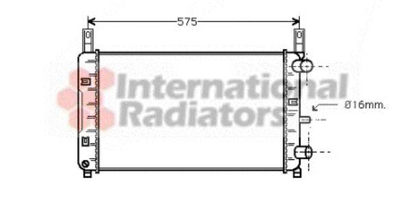 Radiateur, refroidissement du moteur - VAN WEZEL - 18002117