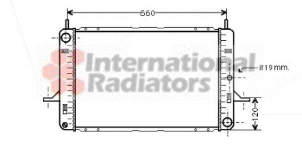 Radiateur, refroidissement du moteur - VAN WEZEL - 18002122