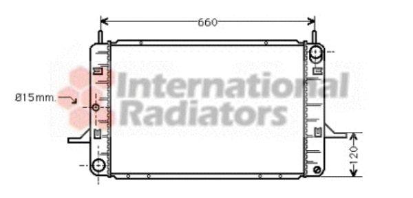 Radiateur, refroidissement du moteur - VAN WEZEL - 18002123