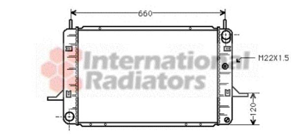 Radiateur, refroidissement du moteur - VAN WEZEL - 18002139