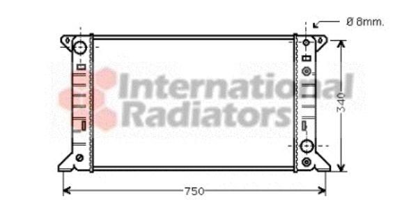 Radiateur, refroidissement du moteur - VAN WEZEL - 18002141