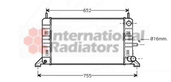 Radiateur, refroidissement du moteur - VAN WEZEL - 18002142