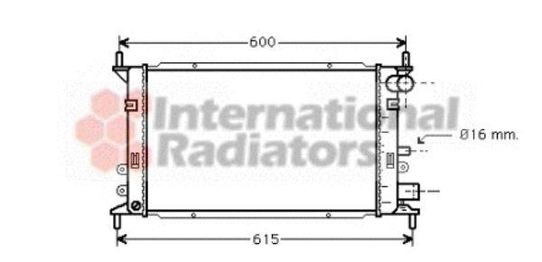 Radiateur, refroidissement du moteur - VAN WEZEL - 18002148