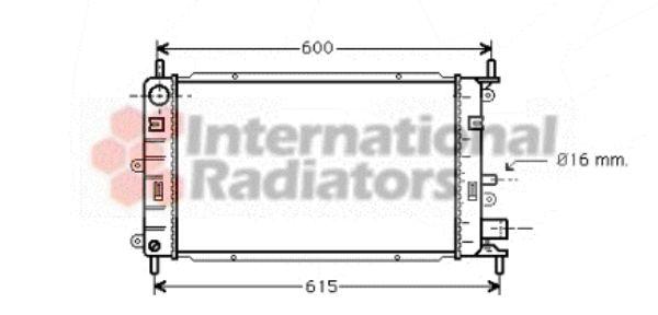 Radiateur, refroidissement du moteur - VAN WEZEL - 18002149