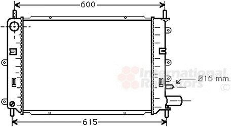 Radiateur, refroidissement du moteur - VAN WEZEL - 18002151