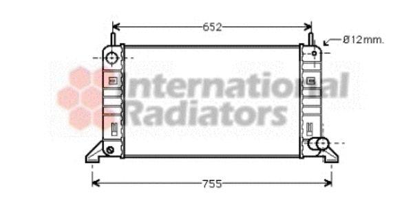 Radiateur, refroidissement du moteur - VAN WEZEL - 18002158