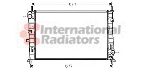 Radiateur, refroidissement du moteur - VAN WEZEL - 18002165