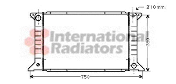 Radiateur, refroidissement du moteur - VAN WEZEL - 18002168