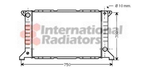 Radiateur, refroidissement du moteur - VAN WEZEL - 18002169