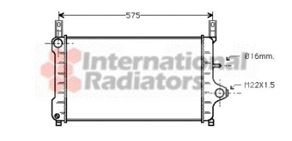 Radiateur, refroidissement du moteur - VAN WEZEL - 18002172