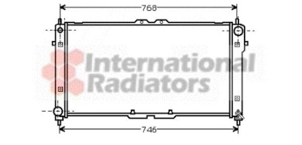 Radiateur, refroidissement du moteur - VAN WEZEL - 18002181