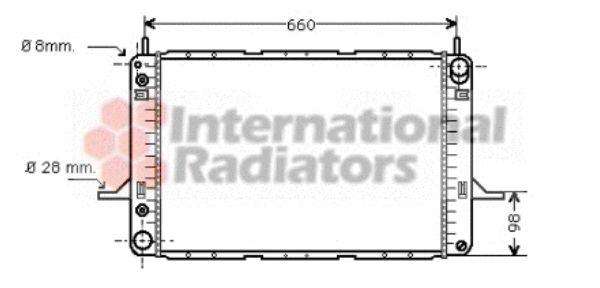 Radiateur, refroidissement du moteur - VAN WEZEL - 18002195