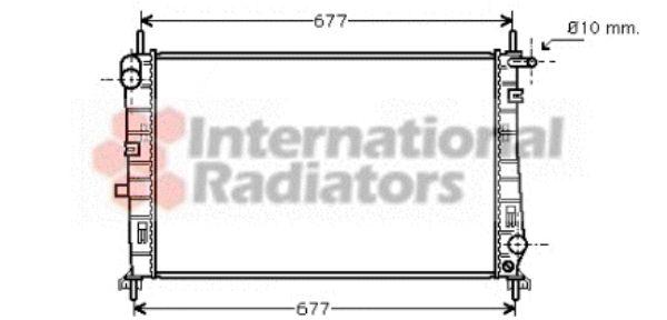Radiateur, refroidissement du moteur - VAN WEZEL - 18002196