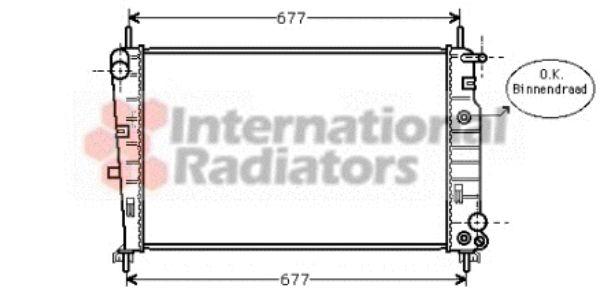 Radiateur, refroidissement du moteur - VAN WEZEL - 18002197
