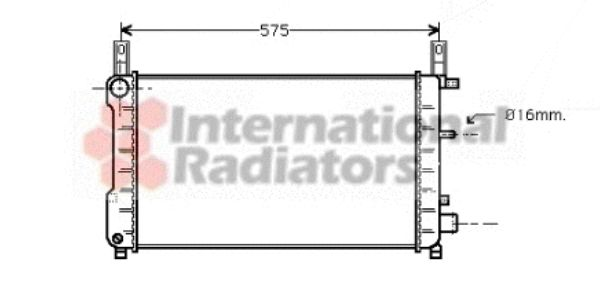 Radiateur, refroidissement du moteur - VAN WEZEL - 18002198