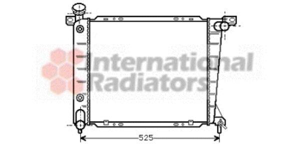 Radiateur, refroidissement du moteur - VAN WEZEL - 18002199