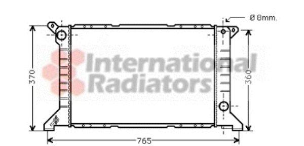 Radiateur, refroidissement du moteur - VAN WEZEL - 18002203