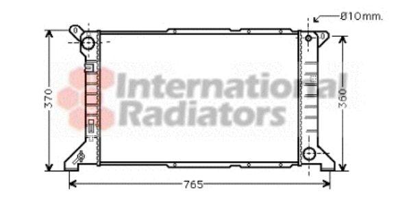 Radiateur, refroidissement du moteur - VAN WEZEL - 18002204