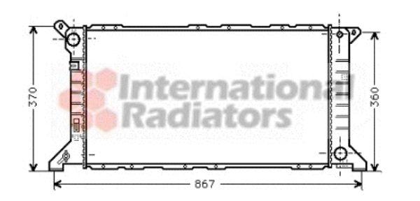 Radiateur, refroidissement du moteur - VAN WEZEL - 18002206