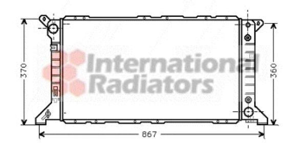 Radiateur, refroidissement du moteur - VAN WEZEL - 18002207