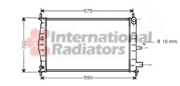 Radiateur, refroidissement du moteur - VAN WEZEL - 18002218