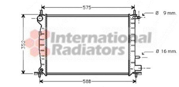 Radiateur, refroidissement du moteur - VAN WEZEL - 18002219