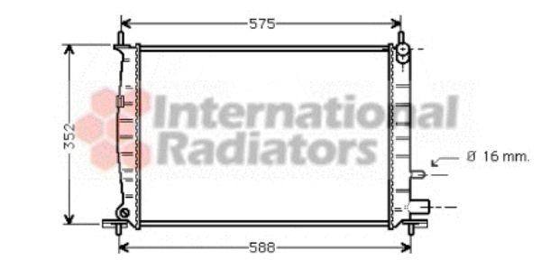 Radiateur, refroidissement du moteur - VAN WEZEL - 18002220
