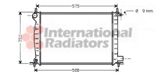 Radiateur, refroidissement du moteur - VAN WEZEL - 18002224