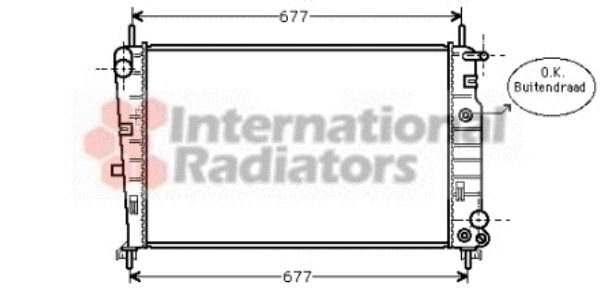 Radiateur, refroidissement du moteur - VAN WEZEL - 18002226
