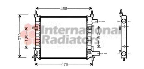 Radiateur, refroidissement du moteur - VAN WEZEL - 18002257