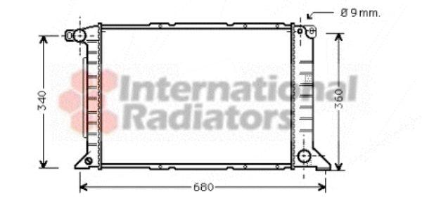 Radiateur, refroidissement du moteur - VAN WEZEL - 18002261