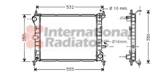 Radiateur, refroidissement du moteur - VAN WEZEL - 18002263