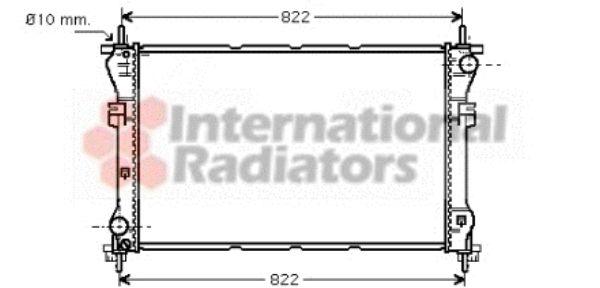 Radiateur, refroidissement du moteur - VAN WEZEL - 18002318
