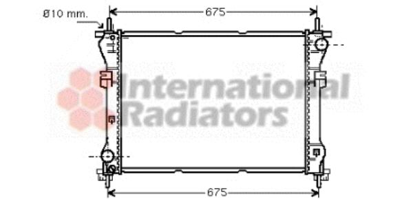 Radiateur, refroidissement du moteur - VAN WEZEL - 18002319