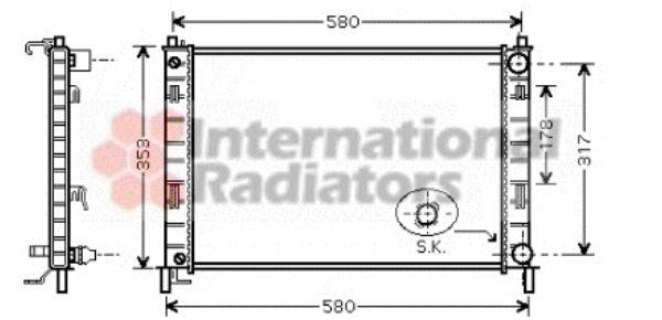 Radiateur, refroidissement du moteur - VAN WEZEL - 18002324