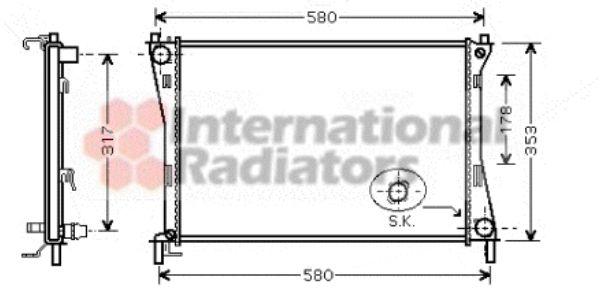 Radiateur, refroidissement du moteur - VAN WEZEL - 18002325