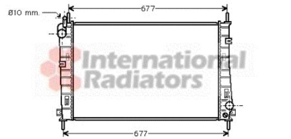 Radiateur, refroidissement du moteur - VAN WEZEL - 18002335