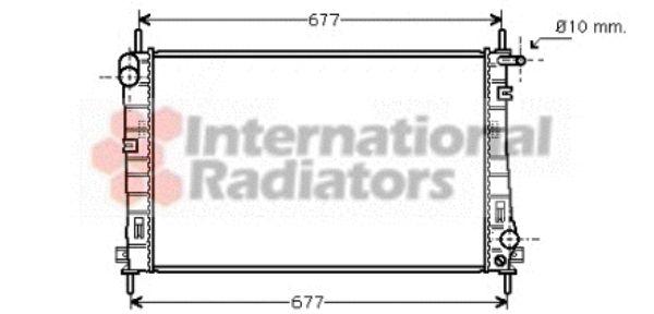 Radiateur, refroidissement du moteur - VAN WEZEL - 18002336