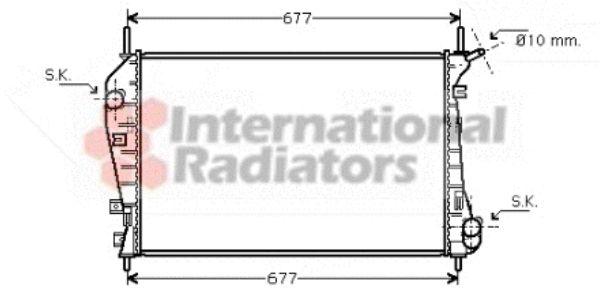 Radiateur, refroidissement du moteur - VAN WEZEL - 18002337