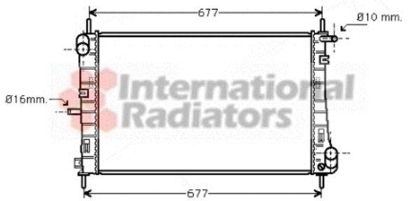 Radiateur, refroidissement du moteur - VAN WEZEL - 18002338