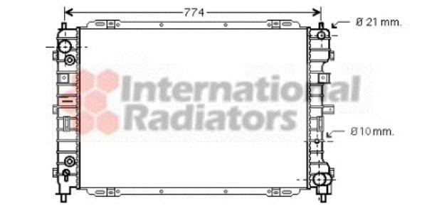 Radiateur, refroidissement du moteur - VAN WEZEL - 18002345